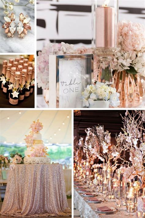 Rose Gold Wedding Inspiration You re Bound to LOVE Gold