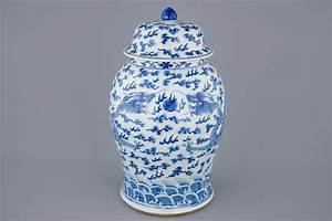 Grand Vase Blanc 1 Metre : un grand vase et son couvercle en porcelaine de chine bleu et blanc aux dragons 19 me rob ~ Teatrodelosmanantiales.com Idées de Décoration