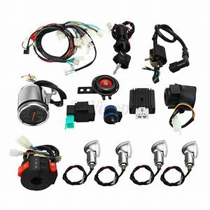 Atv Quad Full Electric Start Engine Cdi Wiring Harness