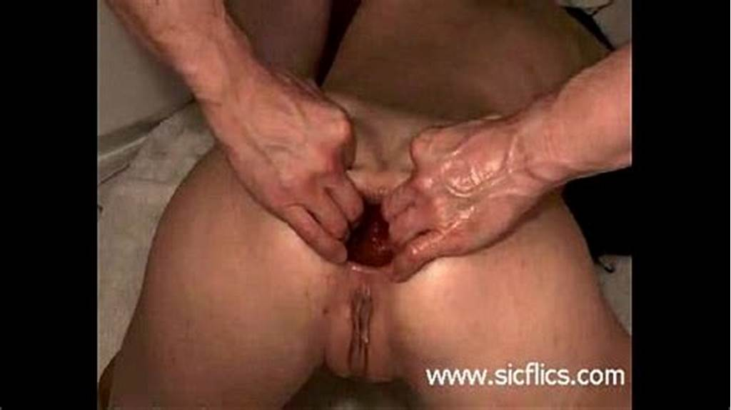 #Young #Amateur #Slut #Gets #A #Brutal #Anal #Fisting #In #Her
