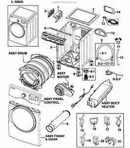 Parts For Samsung Dv350aew  Xaa-0000  Main Assy Parts