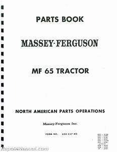 Massey Ferguson Mf65 Glpdsl Parts Manual