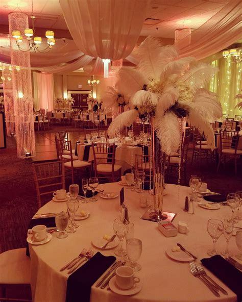 The great Gatsby theme wedding reception Gatsby wedding