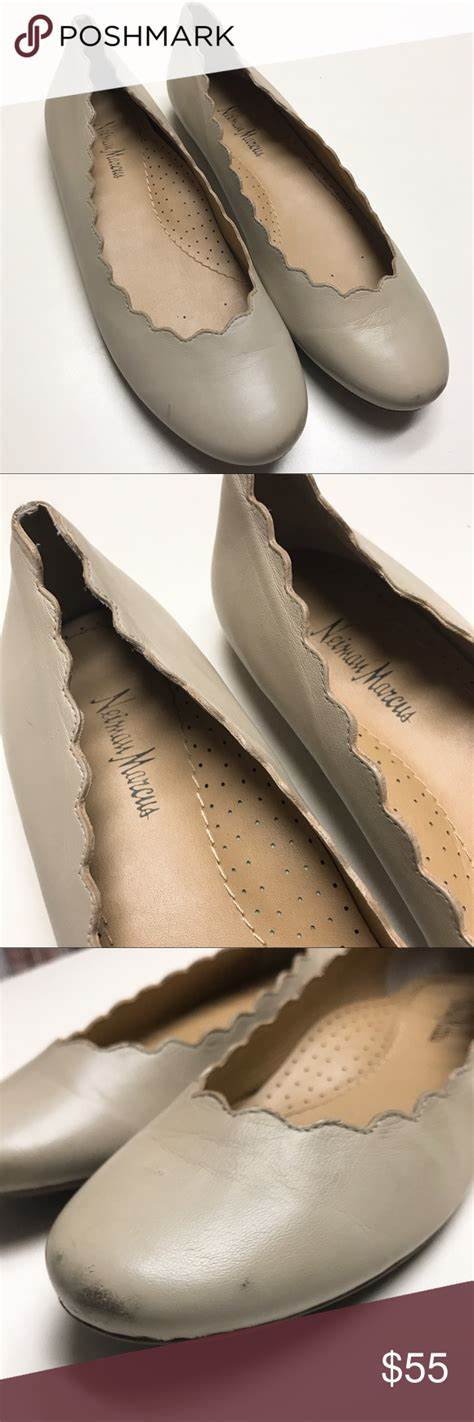 foto de Neiman Marcus Scalloped Flats Neiman marcus shoes