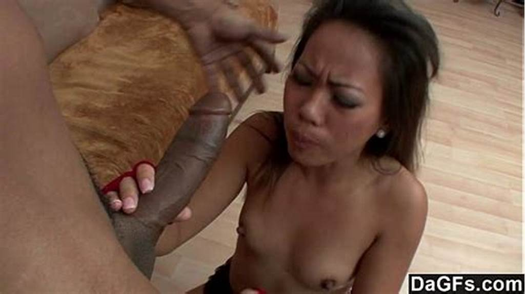 #Tight #Asian #Pussy #Destroyed #By #Big #Black #Cock