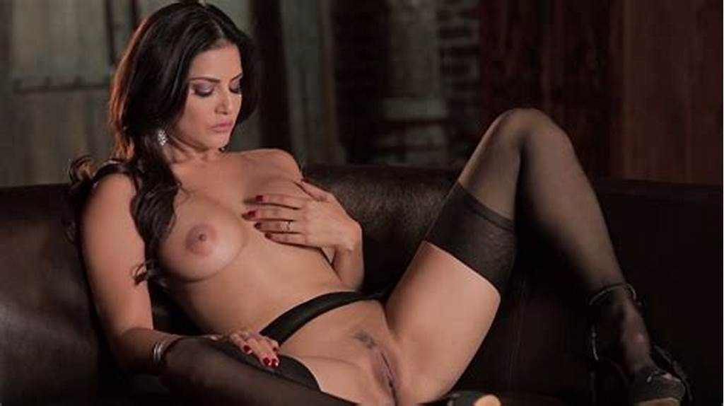 #Desirable #Brunette #With #Red #Nails #Sunny #Leone #Finger #Fucks