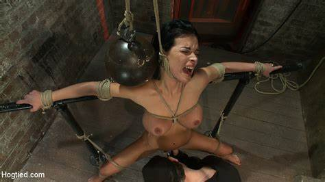 Gagged Hotty Acquires Violent Whipping On Her Breasty