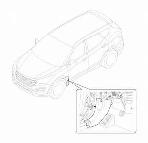 Hyundai Santa Fe  Cowl Side Trim  Components And