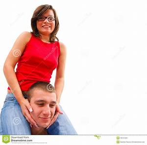 Teen couples having fun