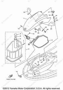 Yamaha Waverunner 2001 Oem Parts Diagram For Engine Hatch