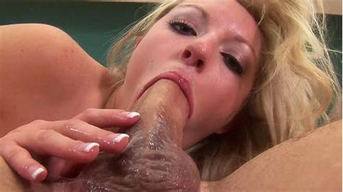 Leya Falcon Gagging And Spitting On His Massive Dildo