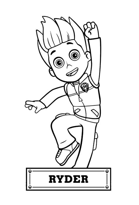 Ryder Paw Patrol Coloring Page youngandtae com in 2020