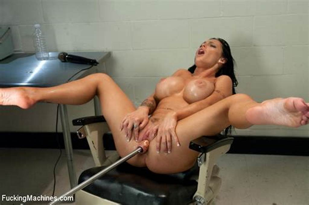 #Hot #Brunette #Chick #Gets #A #Hardcore #Fucking #Machine #Treat