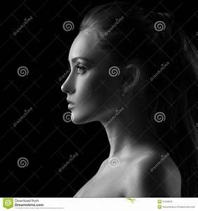 Woman Silhouette In Black & White Royalty Free Stock Photo ...