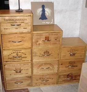 superb meuble avec caisse de vin en bois 12 idees pour With meuble avec caisse de vin