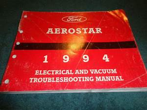 1994 Ford Aerostar Van Wiring Diagram    Vacuum Shop Manual