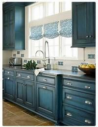 colored kitchen cabinets 23 Gorgeous Blue Kitchen Cabinet Ideas | decorating ideas | Pinterest | Blue kitchen cabinets ...