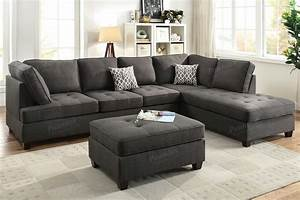 Black fabric sectional sofa steal a sofa furniture for Sectional sofa los angeles ca