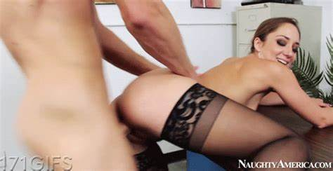 Doggystyle Large Tit Having Secretary