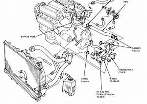 1996 Accord 2 7 Radiator Hose To Thermostat Housing