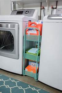 Laundry room storage cart slim rolling laundry room for Laundry room cart rolling