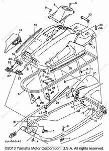 Yamaha Waverunner 1996 Oem Parts Diagram For Engine Hatch