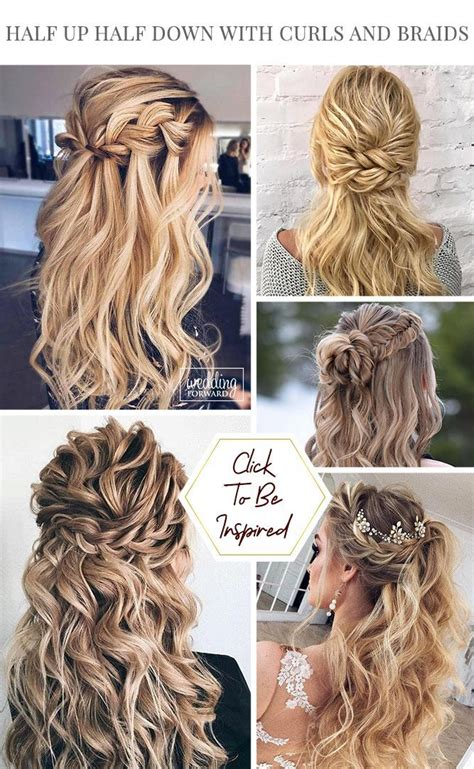30 Wedding Hairstyles Half Up Half Down With Curls And
