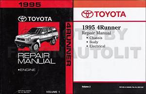 1995 Toyota 4runner Repair Shop Manual 2 Volume Set Original
