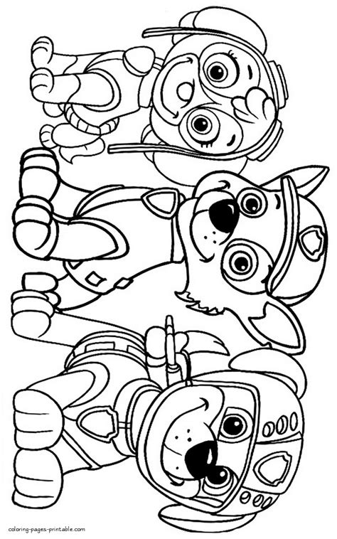 Free kids coloring pages Paw Patrol COLORING PAGES