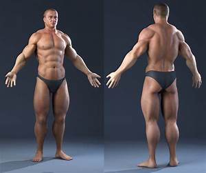Max Realistic Male Bodybuilder Human Man