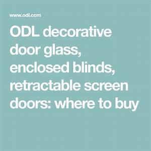 Odl Decorative Door Glass  Enclosed Blinds  Retractable