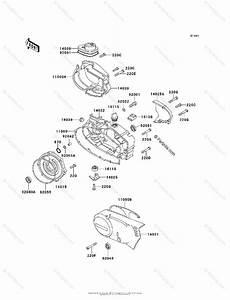 Kawasaki Motorcycle 2001 Oem Parts Diagram For Engine