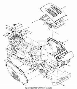 Troy Bilt 13ag609g063  2001  Parts Diagram For Hood Style