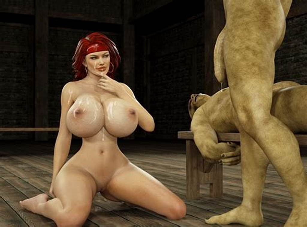 #Smutty #3D #Red #Head #Rides #On #A #Long #Slimy #Orc #Cock.