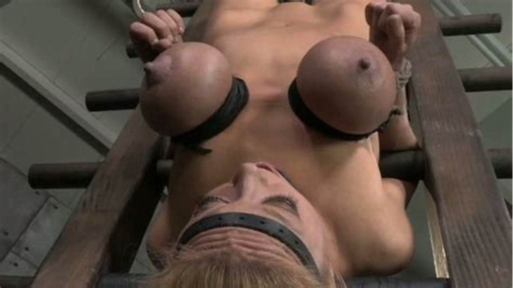 #Hanging #Upside #Down #Submissive #Blonde #Nympho #Face #Fucked