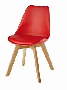 Chaise Scandinave Rouge : chaise style scandinave bleu clair et ch ne maisons du monde ~ Teatrodelosmanantiales.com Idées de Décoration
