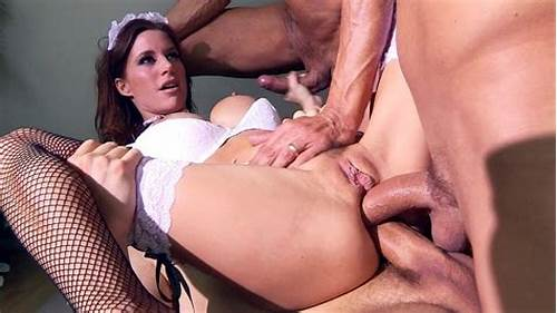 Double Penetration Of The Nylon Cutie #Gia #Dimarco #Taking #Two #Large #Cocks #In #Her #Ass