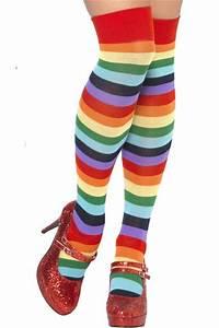 chaussettes clown multicolores