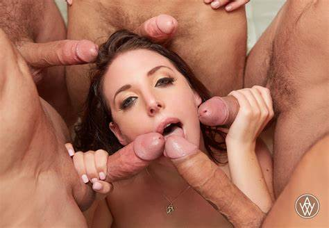 Dark Pornstar Gangbanged Vagina Angela Coloured Orgies And Two Asshole