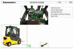Jungheinrich Fork Truck Dfg 316  Dfg 320  Tfg 316  Tfg320