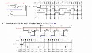 Solved  Complete The Timing Diagram Of The Circuit Shown B