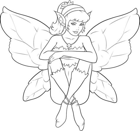 Cute Elf Fairy Coloring Page Also see the category to