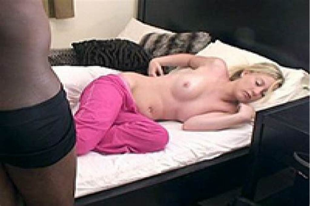 #A #Big #Black #Cock #Ramming #A #Tight #Pussy #Of #Sleeping #Girlfriend