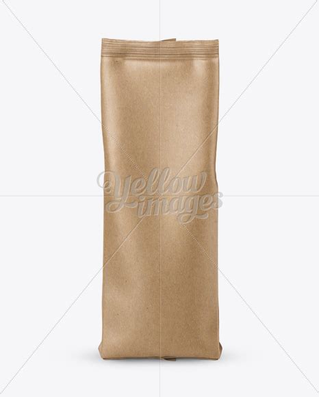 This mockup is available for the purchase on yellow images only. Kraft Paper Coffee Bag Mockup - Front View in Bag & Sack ...