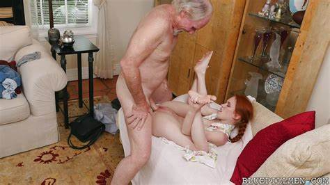 Innocent Mature Enjoys Porn With Little Grandpa