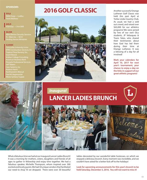 Allied universal provides different benefits for their staff such as health insurance and life insurance. 2015-16 Annual Report by Orange Lutheran High School - Issuu