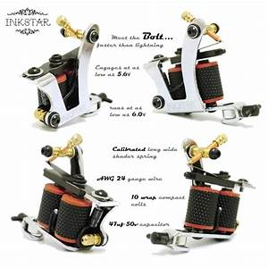 Tattoo Kit  Inkstar Ace C Kit  5 Tattoo Machine  U0026 40 Colors