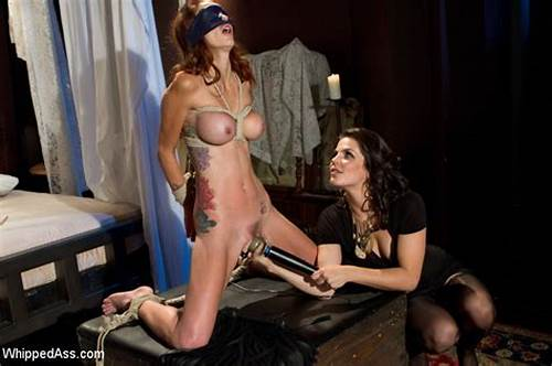Fetish Corselette And Topless Domme Spanks In The Home #Monique #Is #Fucked #And #Whipped #In #Lesbian #Bondage #In #First