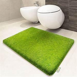 tapis de bain vert certifie oeko tex 100 et lavable With tapis peau de vache avec canapé moelleux convertible