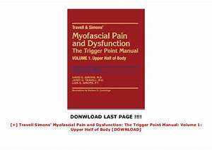Travell Simons U0026 39  Myofascial Pain And Dysfunction  The